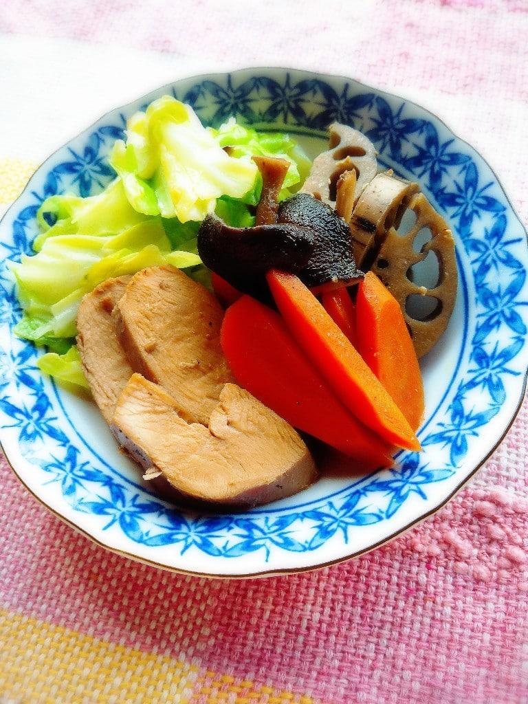 和風ローストチキンと季節の野菜