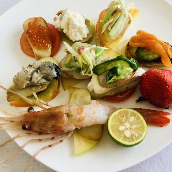 魚介と野菜のお洒落プレート