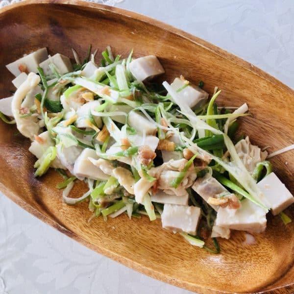 里芋と長ねぎのコラボサラダ