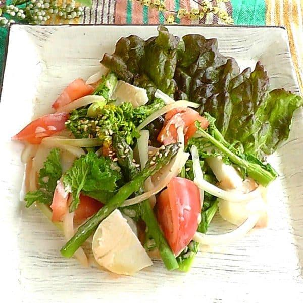 里芋入りの春サラダ