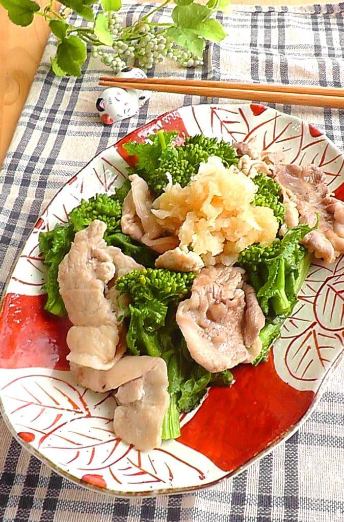 フライパン1つ!菜花と豚のおろしポン酢