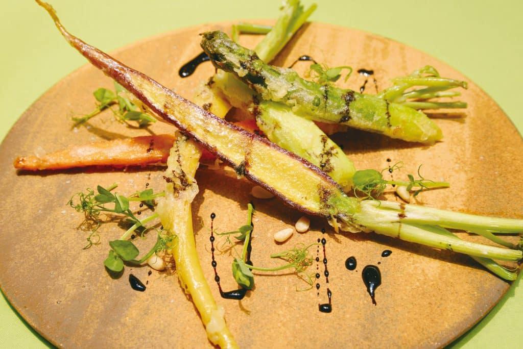 揚げ焼き野菜の温サラダ