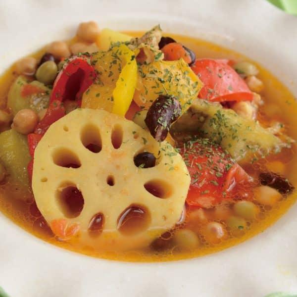 パプリカのスパイシースープ