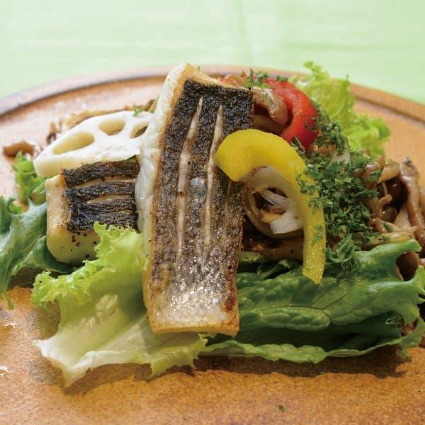 白身魚のグリルサラダ